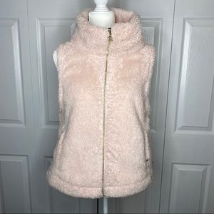 Tommy Hilfiger Faux Fur Teddy Vest Blush Pink L